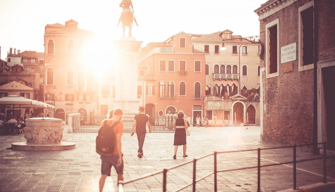 Venice Piazzale Square Sunset