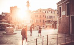 Venice Piazzale Square Sunset